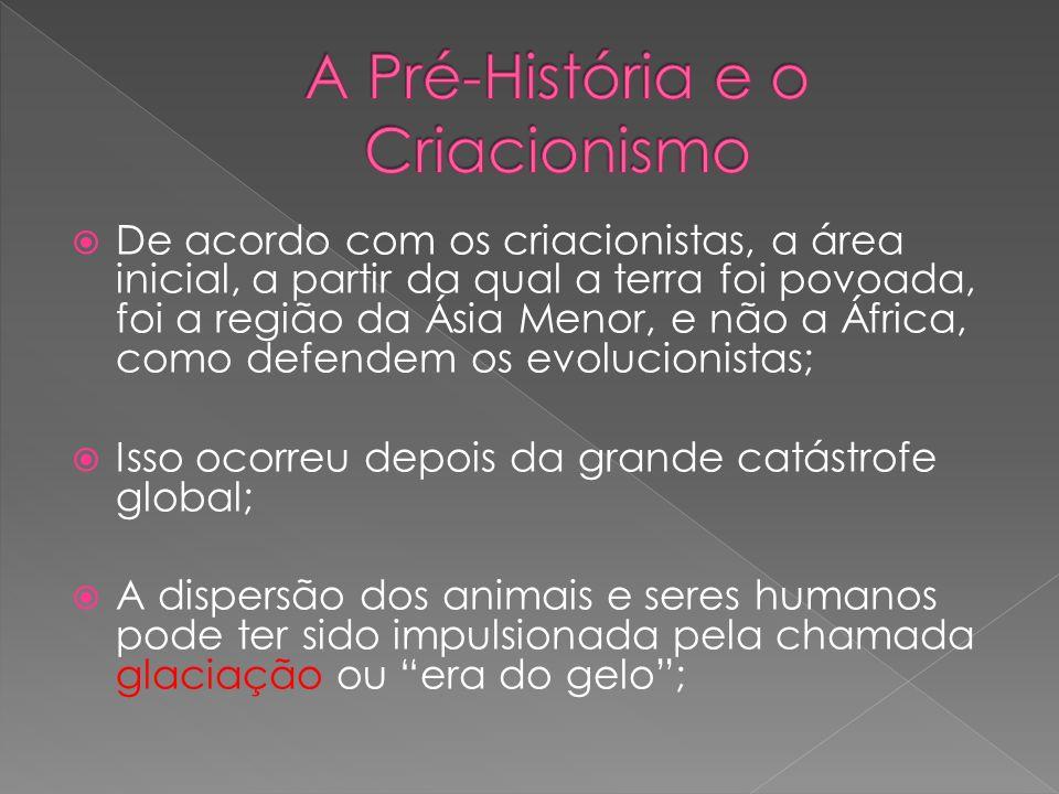 De acordo com os criacionistas, a área inicial, a partir da qual a terra foi povoada, foi a região da Ásia Menor, e não a África, como defendem os evo
