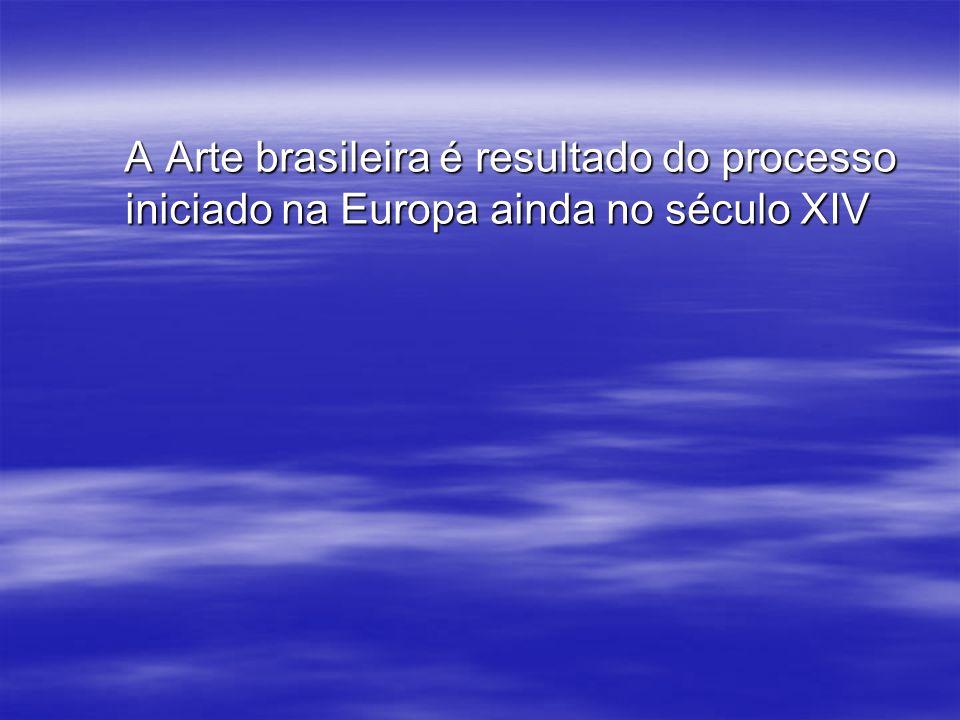 A Arte brasileira é resultado do processo iniciado na Europa ainda no século XIV A Arte brasileira é resultado do processo iniciado na Europa ainda no