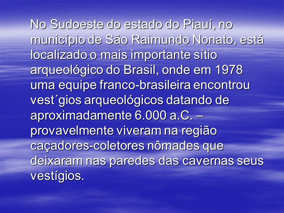 No Sudoeste do estado do Piauí, no município de São Raimundo Nonato, está localizado o mais importante sítio arqueológico do Brasil, onde em 1978 uma