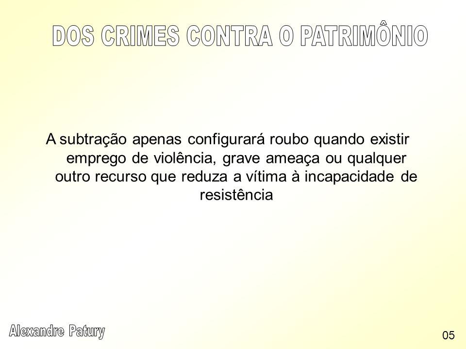 STF: No roubo, quando a violência é subsequente à subtração, o momento consumativo é o do emprego da violência.