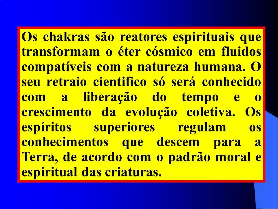 Os chakras são reatores espirituais que transformam o éter cósmico em fluidos compatíveis com a natureza humana. O seu retraio cientifico só será conh