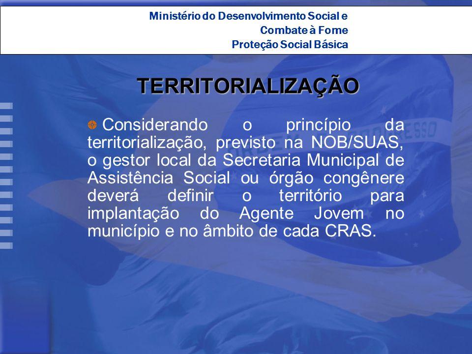 Proteção Social Básica TERRITORIALIZAÇÃO Considerando o princípio da territorialização, previsto na NOB/SUAS, o gestor local da Secretaria Municipal d