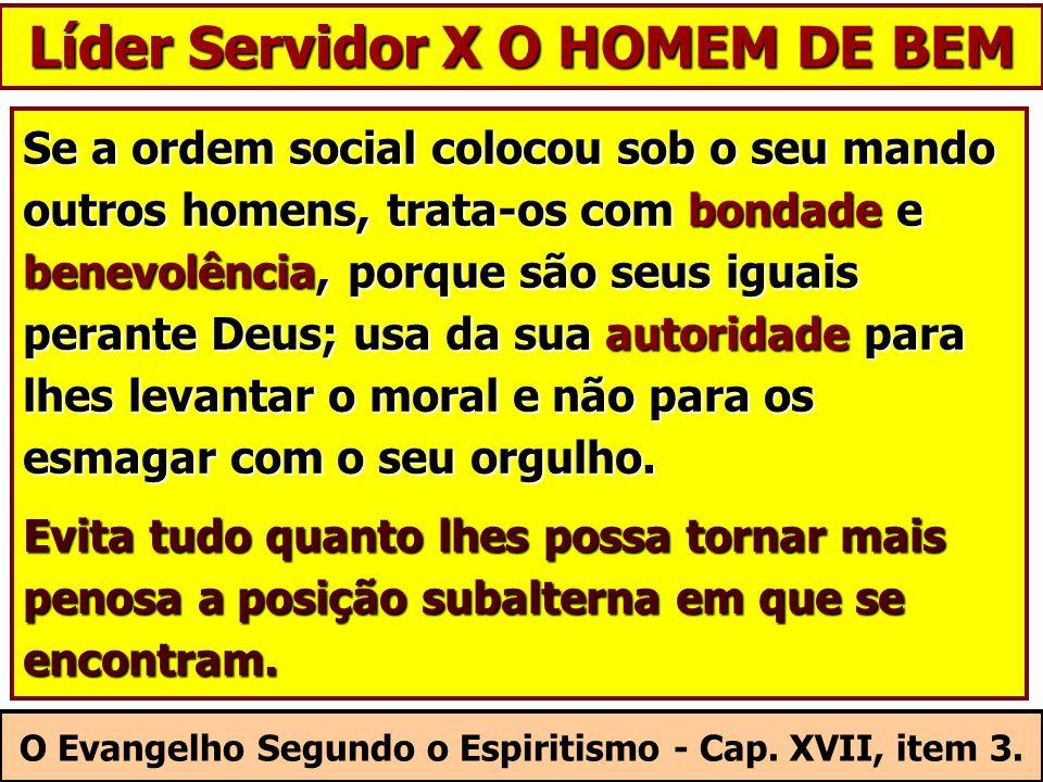 Se a ordem social colocou sob o seu mando outros homens, trata-os com bondade e benevolência, porque são seus iguais perante Deus; usa da sua autorida
