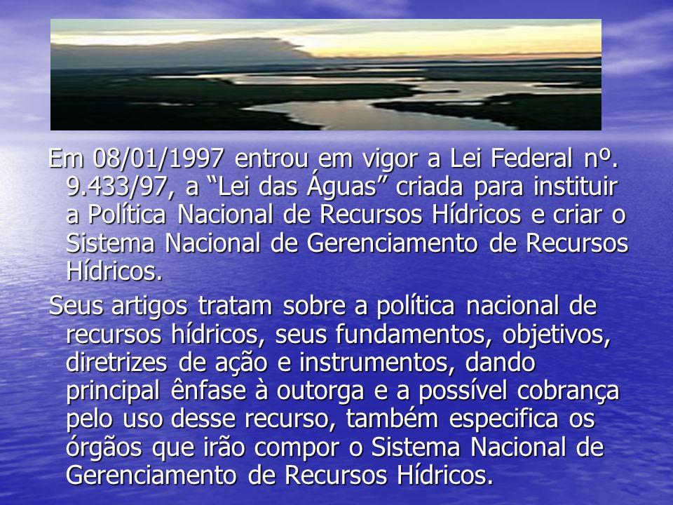 Em 08/01/1997 entrou em vigor a Lei Federal nº.