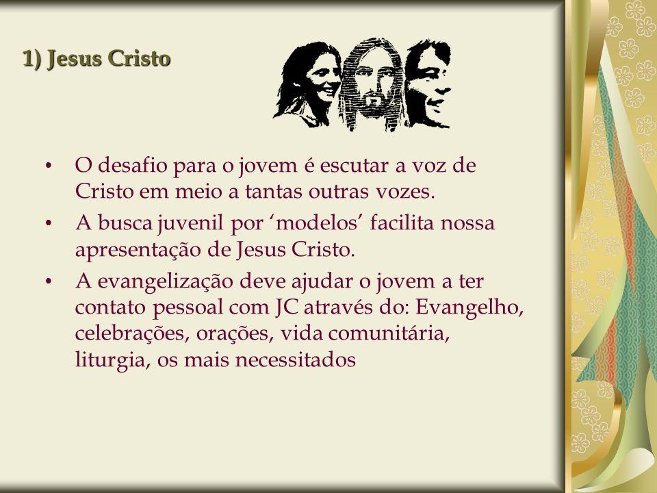 1) Jesus Cristo O desafio para o jovem é escutar a voz de Cristo em meio a tantas outras vozes. A busca juvenil por modelos facilita nossa apresentaçã