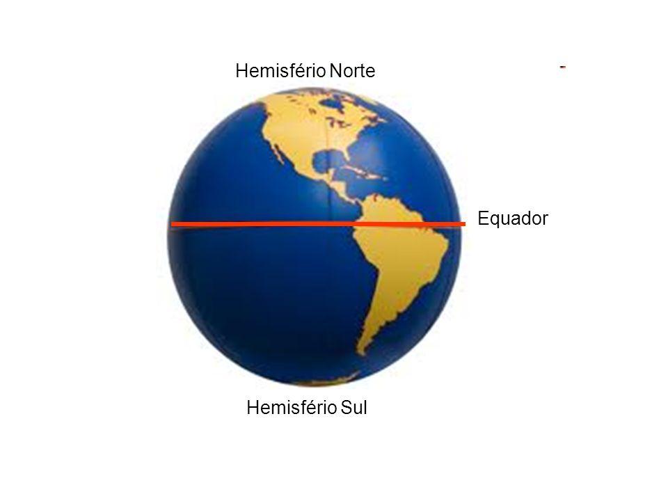 Equador Hemisfério Norte Hemisfério Sul