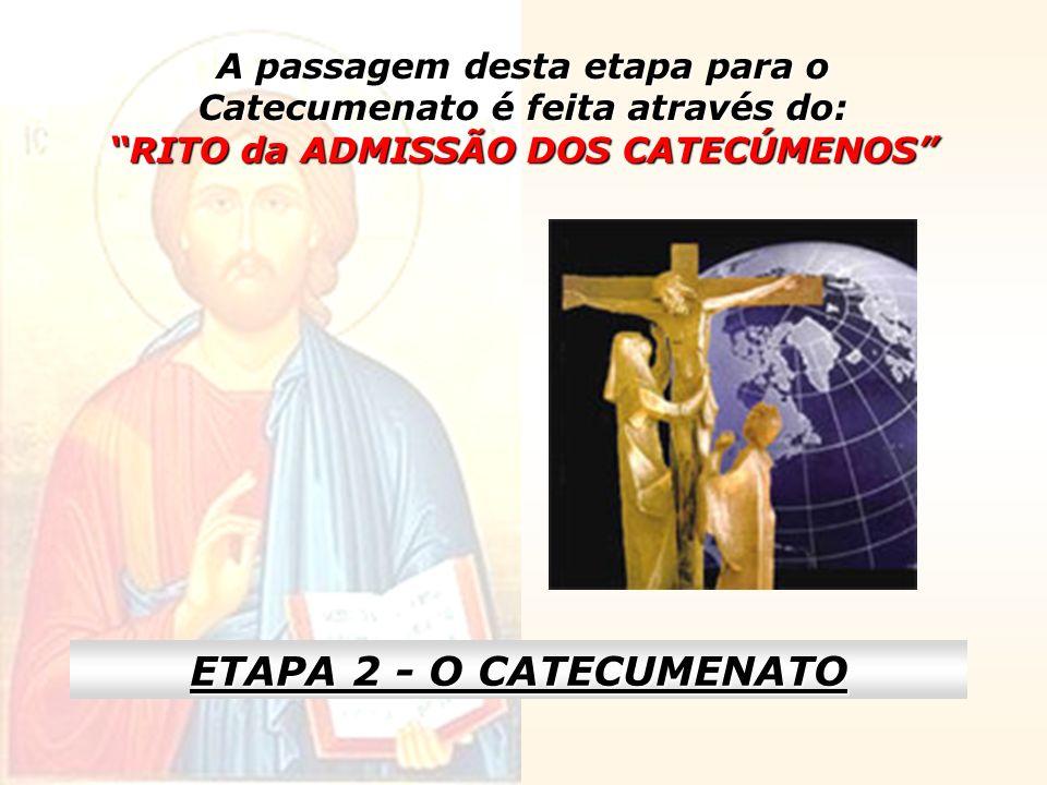 O Catecumenato é o espaço de tempo, em que os candidatos recebem formação e exercitam-se praticamente na vida cristã.