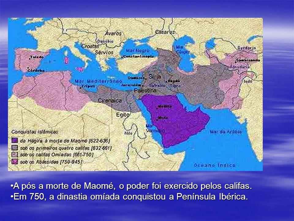 No ano de Expansão do mundo árabe A pós a morte de Maomé, o poder foi exercido pelos califas.A pós a morte de Maomé, o poder foi exercido pelos califa