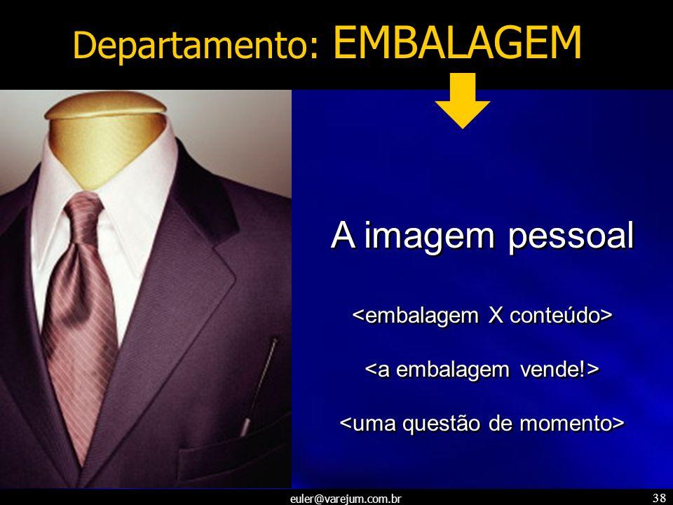 euler@varejum.com.br 38 Departamento: EMBALAGEM A imagem pessoal A imagem pessoal