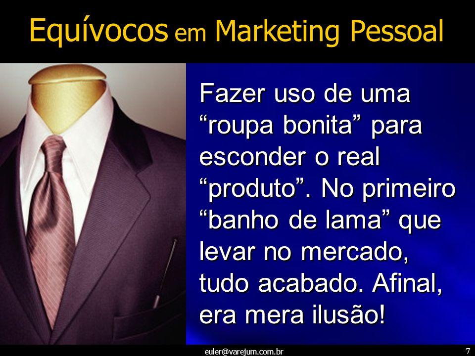 euler@varejum.com.br 7 Fazer uso de uma roupa bonita para esconder o real produto. No primeiro banho de lama que levar no mercado, tudo acabado. Afina