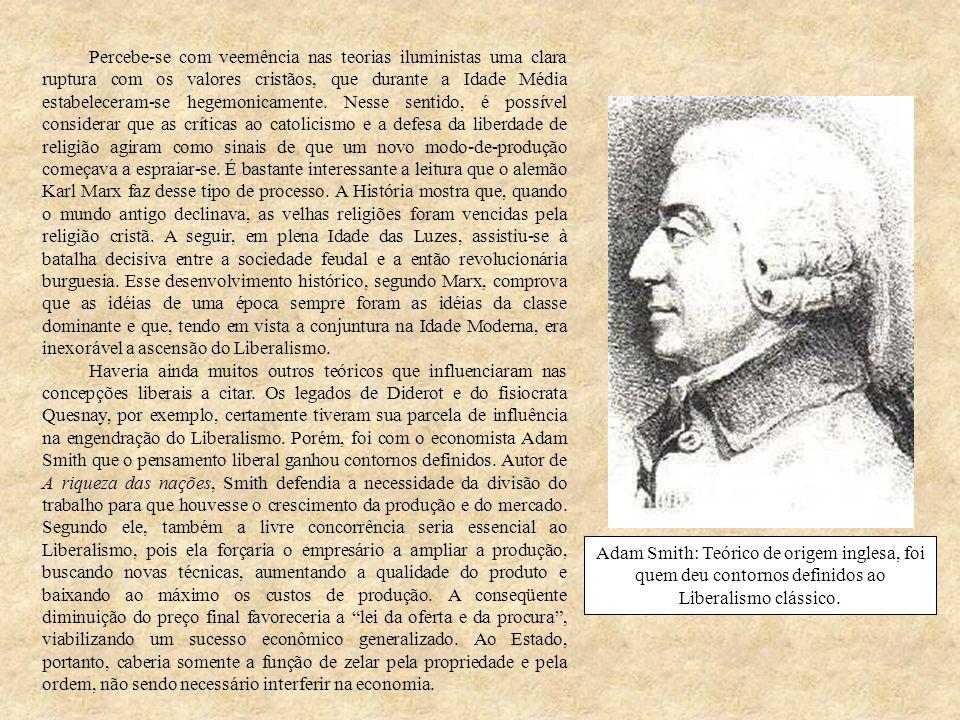 Seguiram-se a Smith outros teóricos liberais, que enunciaram novas leis e idéias.