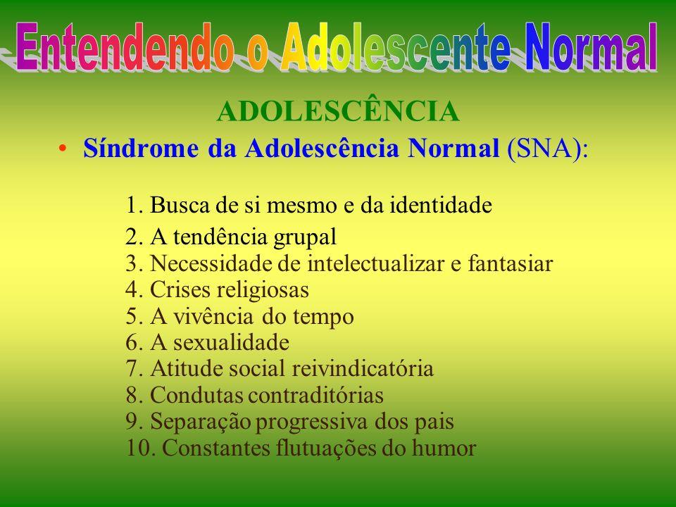 ADOLESCÊNCIA Contornos da autonomia Período diferente dos outros períodos de desenvolvimento Aspectos infantis e aspectos adultos