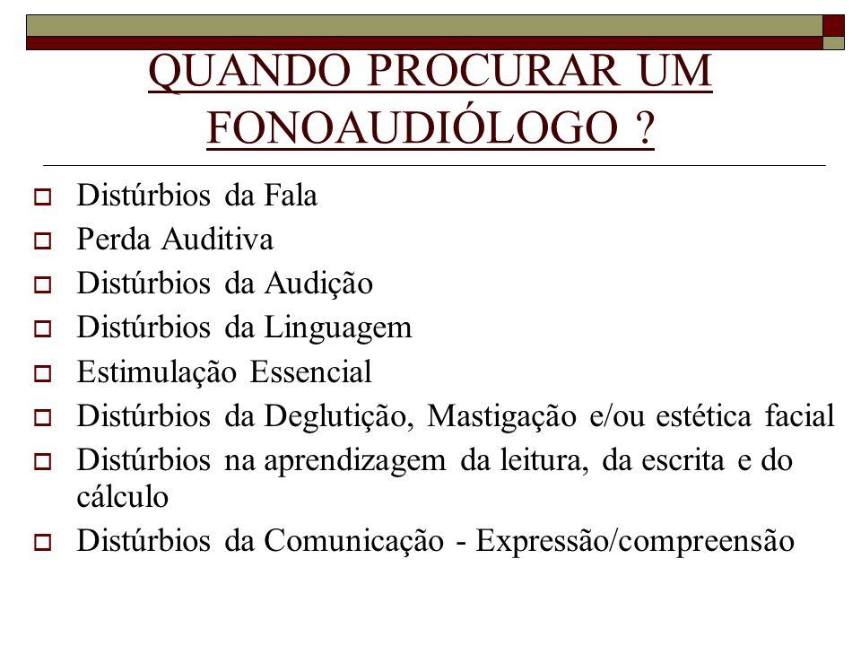 QUAL A POPULAÇÃO ATENDIDA PELO FONOAUDIÓLOGO.