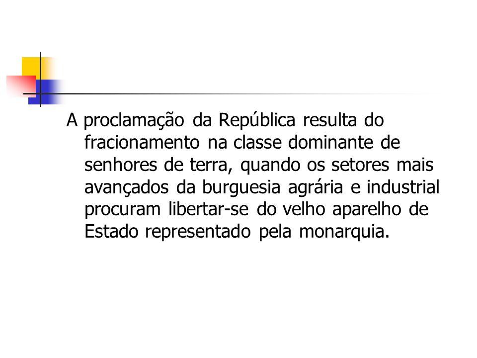 A I república aparece como uma fase de transição com o antigo regime e não contribui de fato, para a consolidação do estilo democrático de vida.