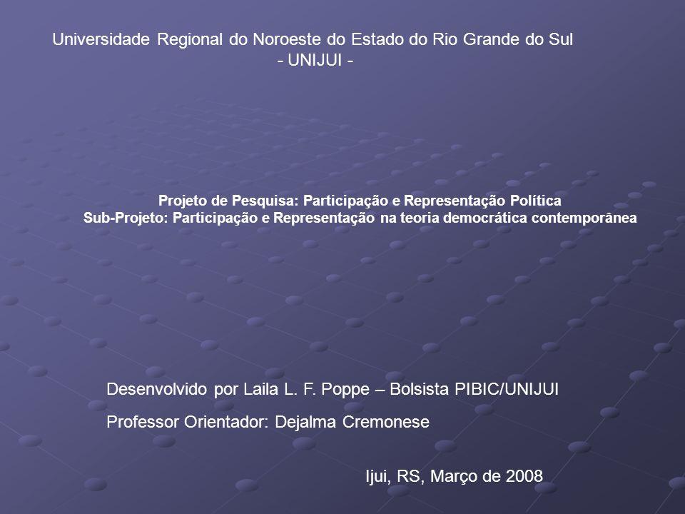 Concepção para o Estado contemporâneo:Síntese de uma proposta Cesar Luiz Pasold