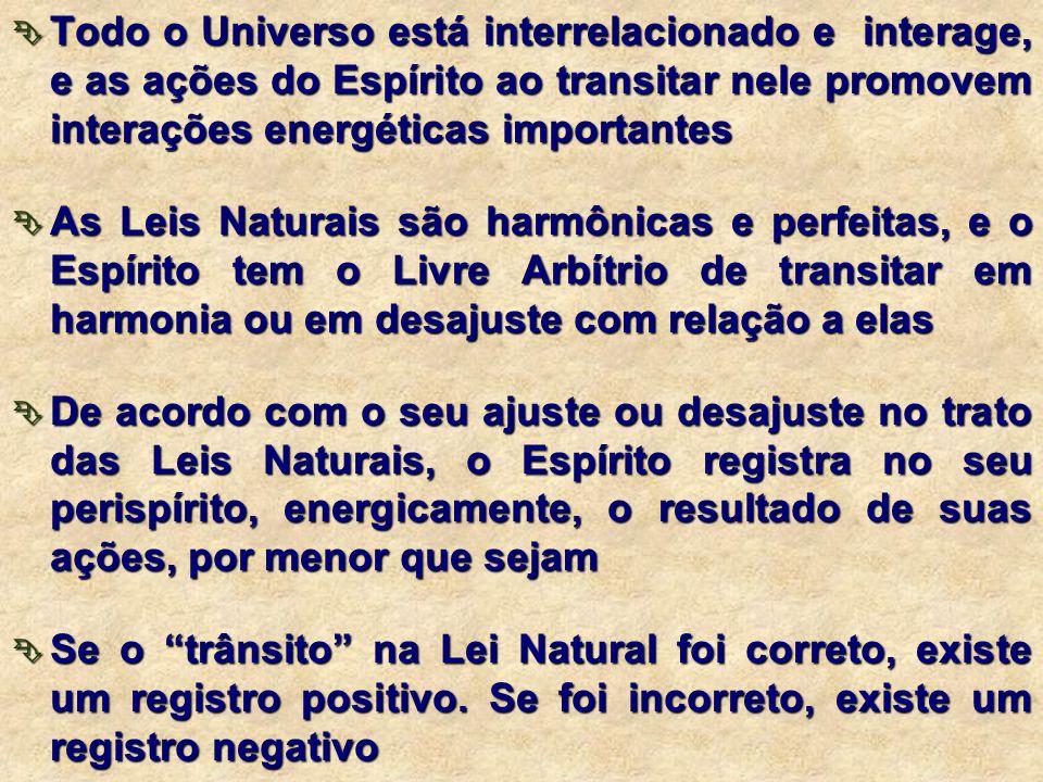 Implicam em registros energéticos a nível do perispírito, com influências decisivas nesta e em outras encarnações. Esses registros são energé- ticos e