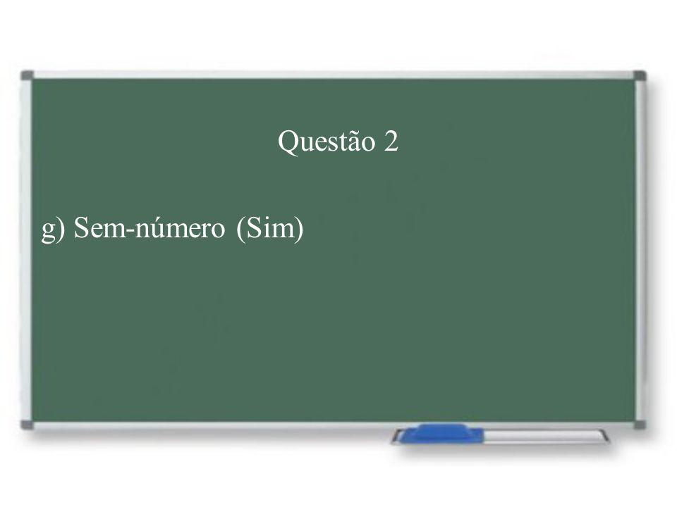 Questão 2 h) Microondas – Micro-ondas Regra: o hífen deve ser usado quando o primeiro elemento se encerra com mesma vogal com que inicia o segundo elemento.