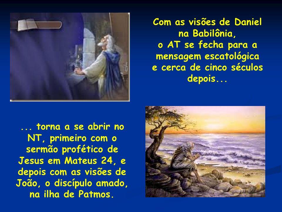 7 – A visão inicial do Apocalipse – 1.1.8: 1 Revelação de Jesus Cristo, que Deus lhe deu para mostrar aos seus servos as coisas que brevemente devem acontecer; e, enviando-as pelo seu anjo, as notificou a seu servo João; 2 o qual testificou da palavra de Deus, e do testemunho de Jesus Cristo, de tudo quanto viu.