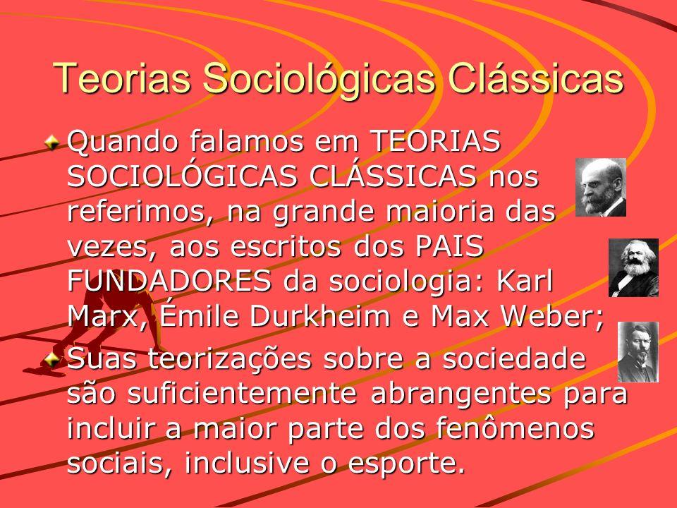 Teorias Sociológicas Clássicas Quando falamos em TEORIAS SOCIOLÓGICAS CLÁSSICAS nos referimos, na grande maioria das vezes, aos escritos dos PAIS FUND