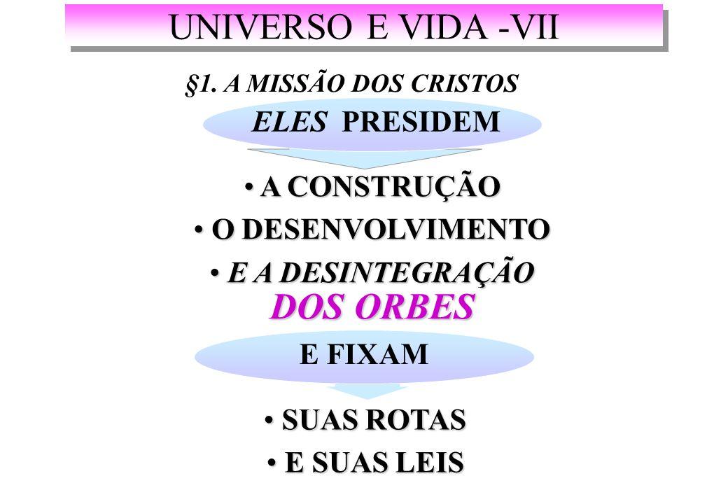 UNIVERSO E VIDA -VII §1.