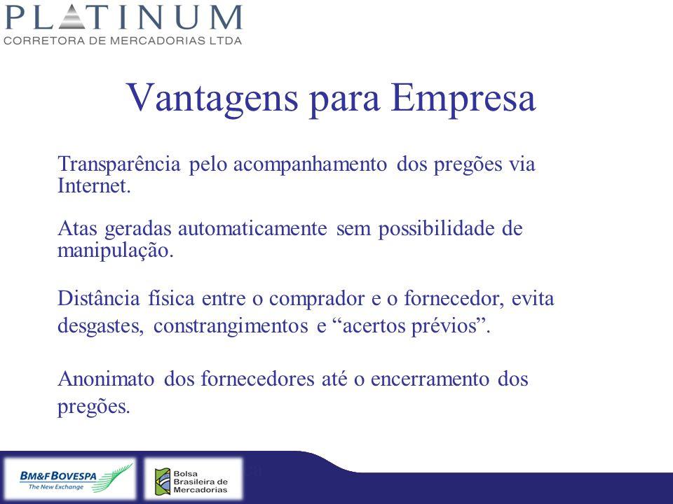 Bradesco – Licitação Eletrônica Fibra – Licitação Eletrônica Vantagens para Empresa Transparência pelo acompanhamento dos pregões via Internet. Atas g