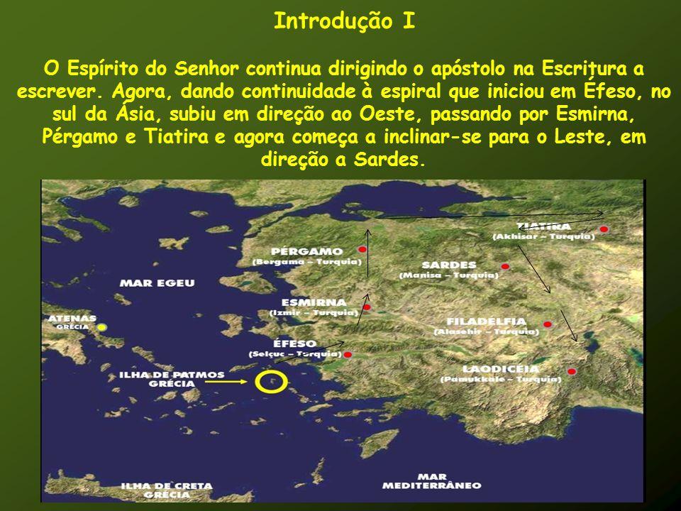 Introdução I O Espírito do Senhor continua dirigindo o apóstolo na Escritura a escrever. Agora, dando continuidade à espiral que iniciou em Éfeso, no