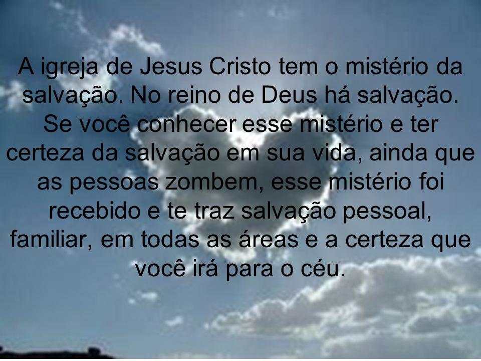5 3º MISTÉRIO A SALVAÇÃO Mc 16:16 16Quem crer e for batizado será salvo; quem, porém, não crer será condenado.