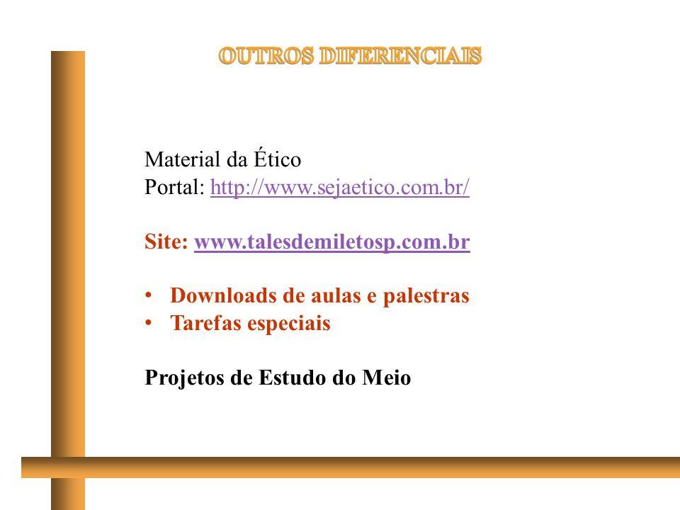 Material da Ético Portal: http://www.sejaetico.com.br/http://www.sejaetico.com.br/ Site: www.talesdemiletosp.com.brwww.talesdemiletosp.com.br Download