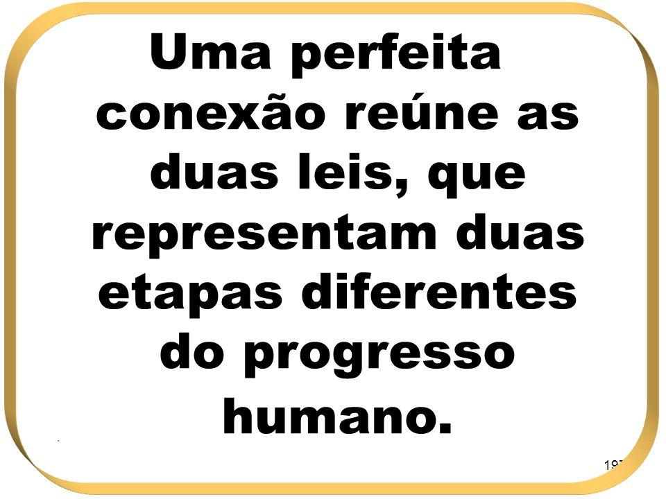 197 Uma perfeita conexão reúne as duas leis, que representam duas etapas diferentes do progresso humano..