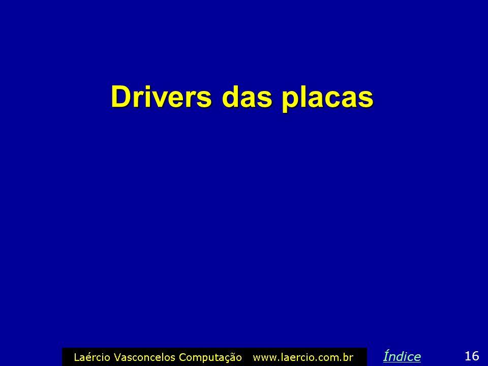 Drivers das placas 16 Índice