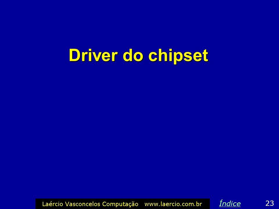 Driver do chipset 23 Índice