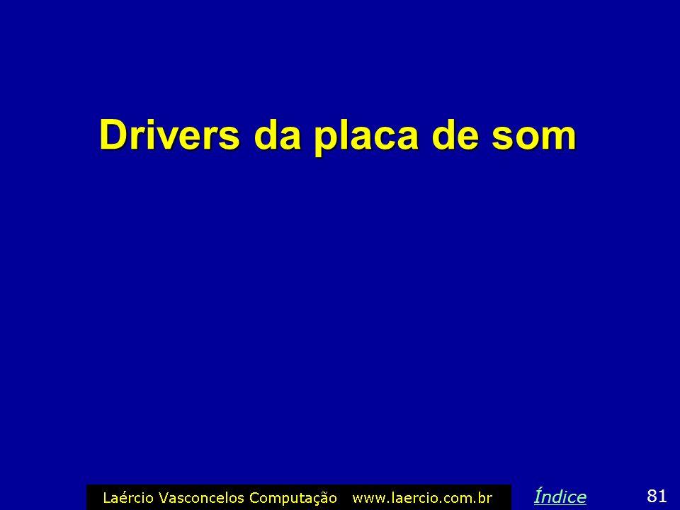 Drivers da placa de som 81 Índice