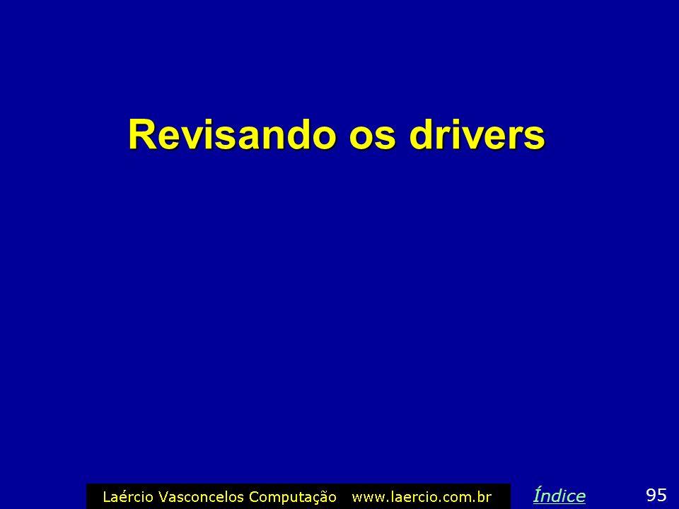 Revisando os drivers 95 Índice