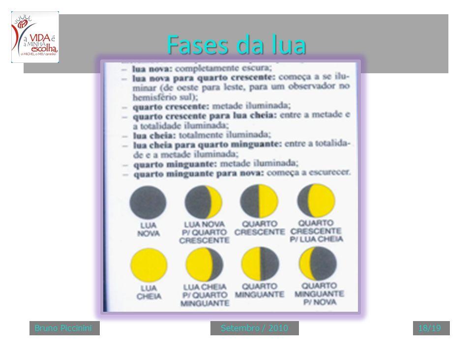 Fases da lua Bruno PiccininiSetembro / 201018/19