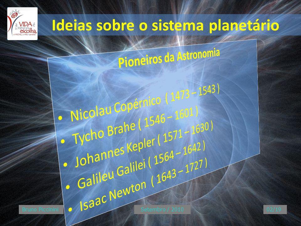 Ideias sobre o sistema planetário Bruno PiccininiSetembro / 201002/19