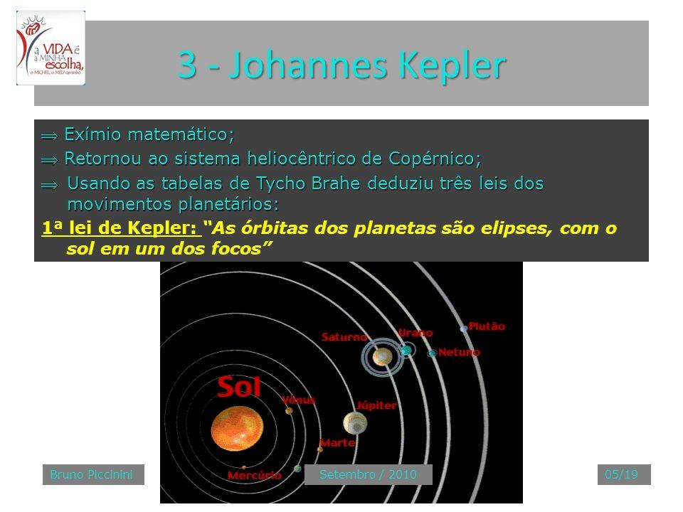 3 - Johannes Kepler Exímio matemático; Exímio matemático; Retornou ao sistema heliocêntrico de Copérnico; Retornou ao sistema heliocêntrico de Copérni