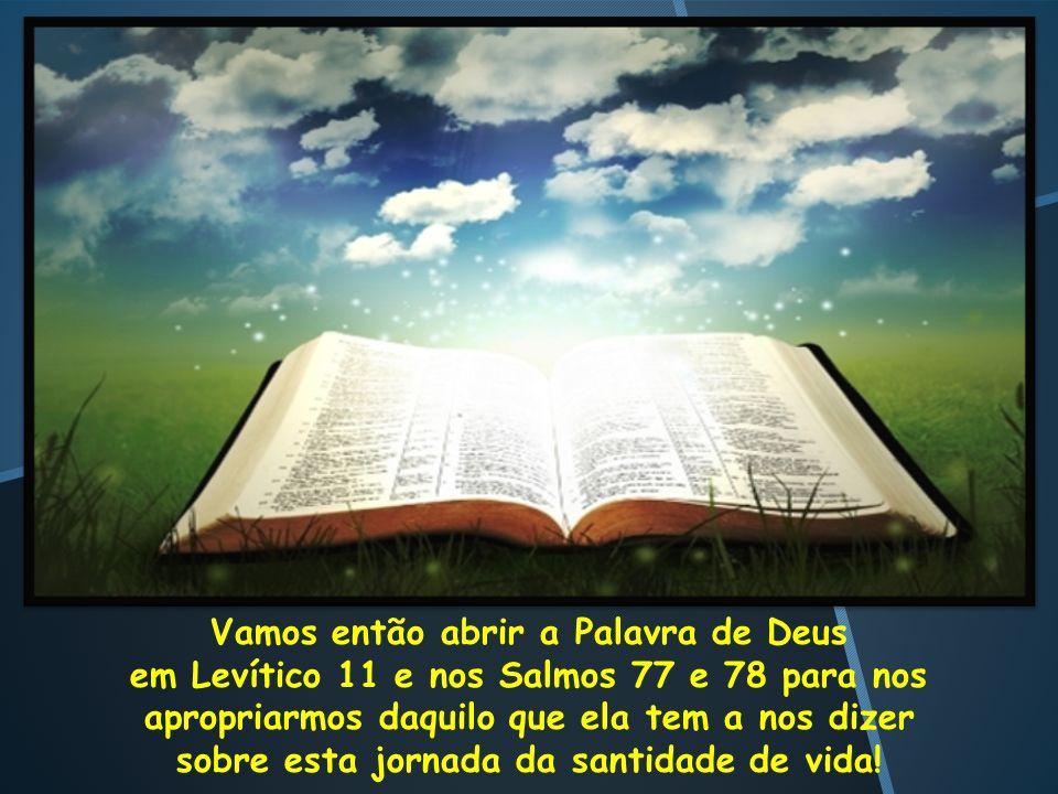 Vamos então abrir a Palavra de Deus em Levítico 11 e nos Salmos 77 e 78 para nos apropriarmos daquilo que ela tem a nos dizer sobre esta jornada da sa