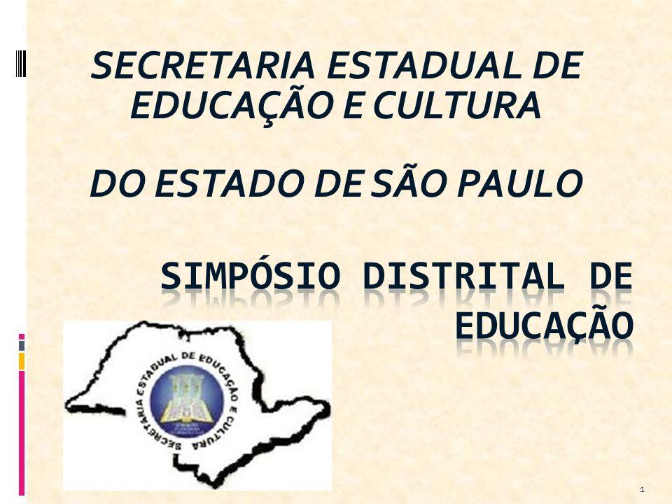 SECRETARIA ESTADUAL DE EDUCAÇÃO E CULTURA DO ESTADO DE SÃO PAULO 1