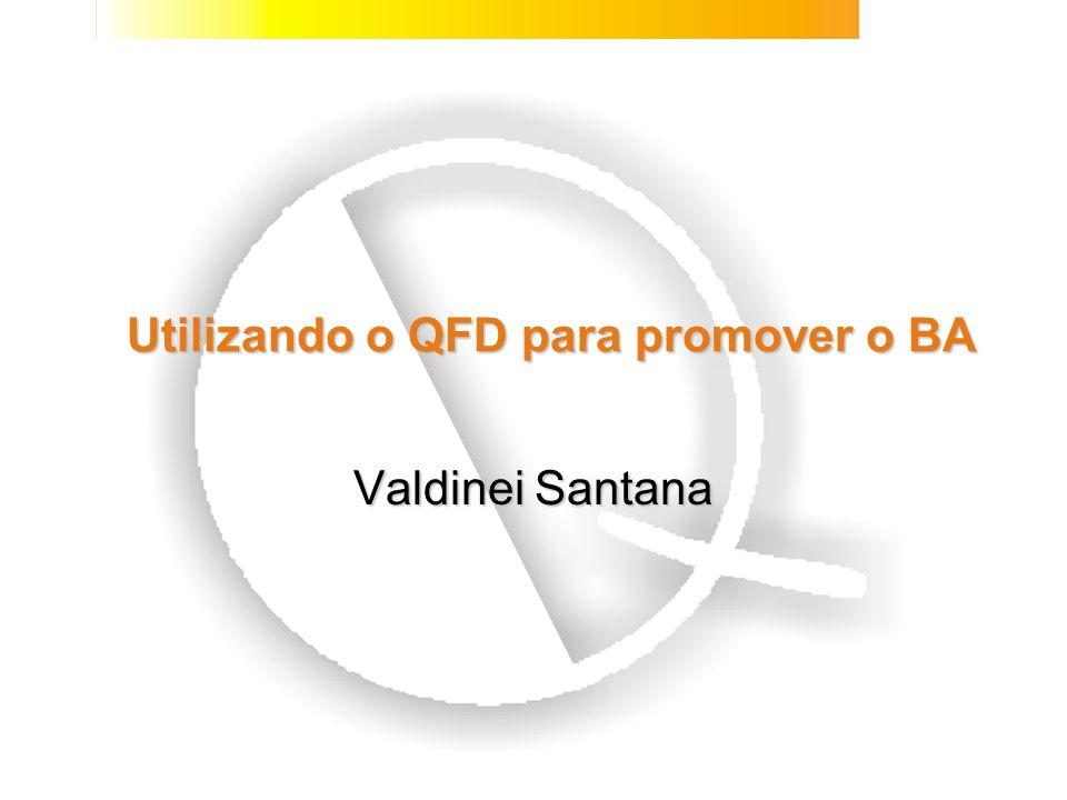 Utilizando o QFD para promover o BA Valdinei Santana