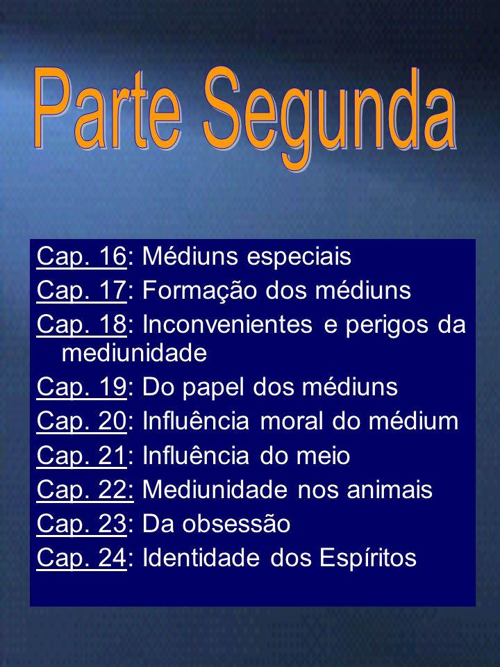 Marta/FEB18 Cap. 8: Laboratório do mundo invisível Cap. 9: Lugares assombrados Cap. 10: Natureza das comunicações Cap. 11: Sematologia e tiptologia Ca