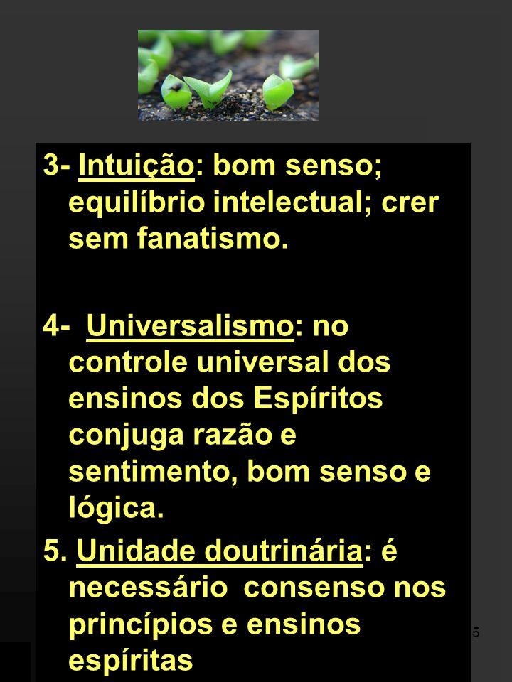 4 1- Humanismo: Kardec pesou os valores éticos e as conseqüências morais das novas idéias. 2- Racionalismo: observação; análise crítica e criteriosa d