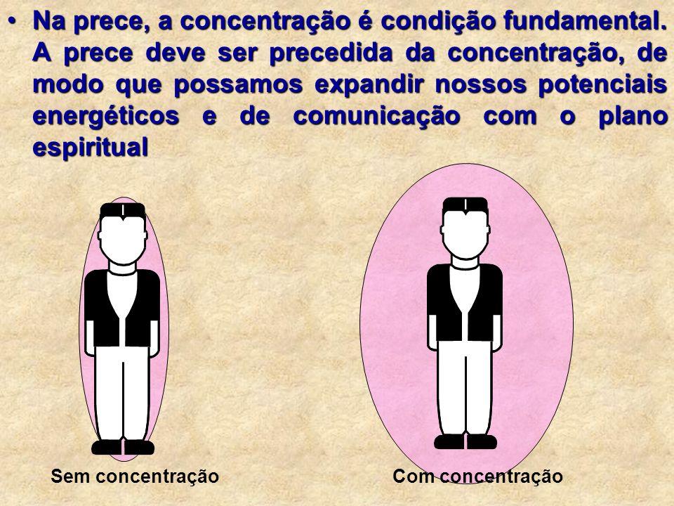 Na prece, a concentração é condição fundamental.