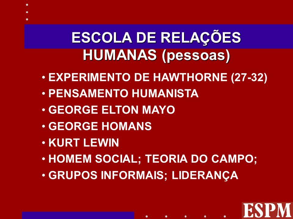 ANÁLISE DOS FATORES - CHAVE DE SUCESSO