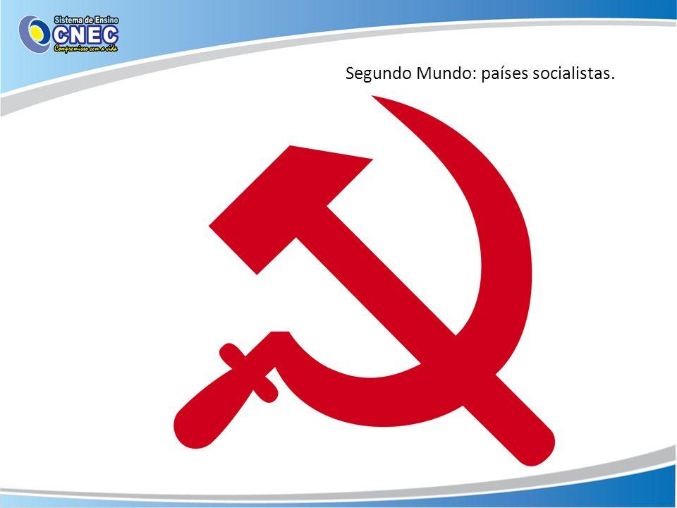 Segundo Mundo: países socialistas.