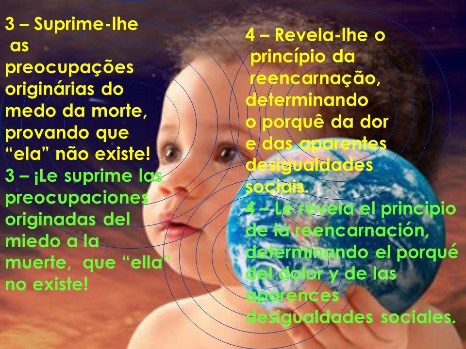 2 – Expõe o sentido real das lições do CRISTO e de todos os outros mentores Espirituais da humanidade, nas diversas regiões do planeta. 2 – Expone el