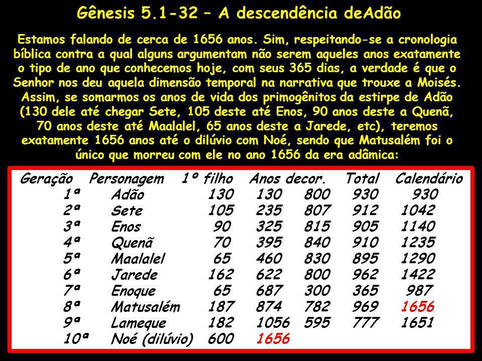 Estamos falando de cerca de 1656 anos. Sim, respeitando-se a cronologia bíblica contra a qual alguns argumentam não serem aqueles anos exatamente o ti