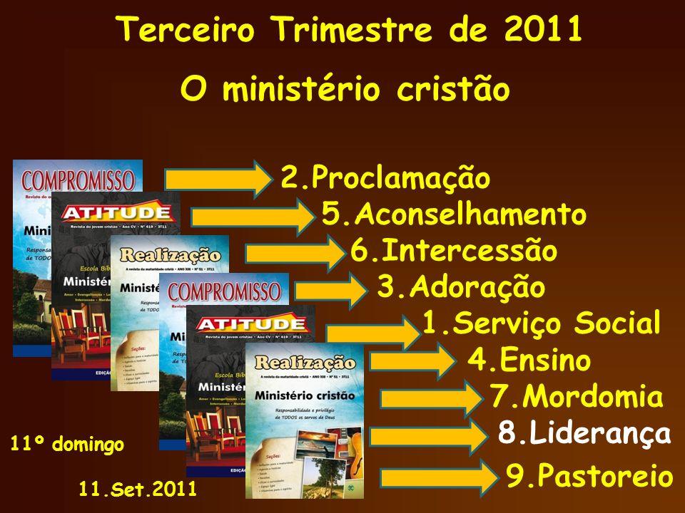 Ministério Cristão 4) Liderar exige mudança de vida Mateus 4.18-25 4.