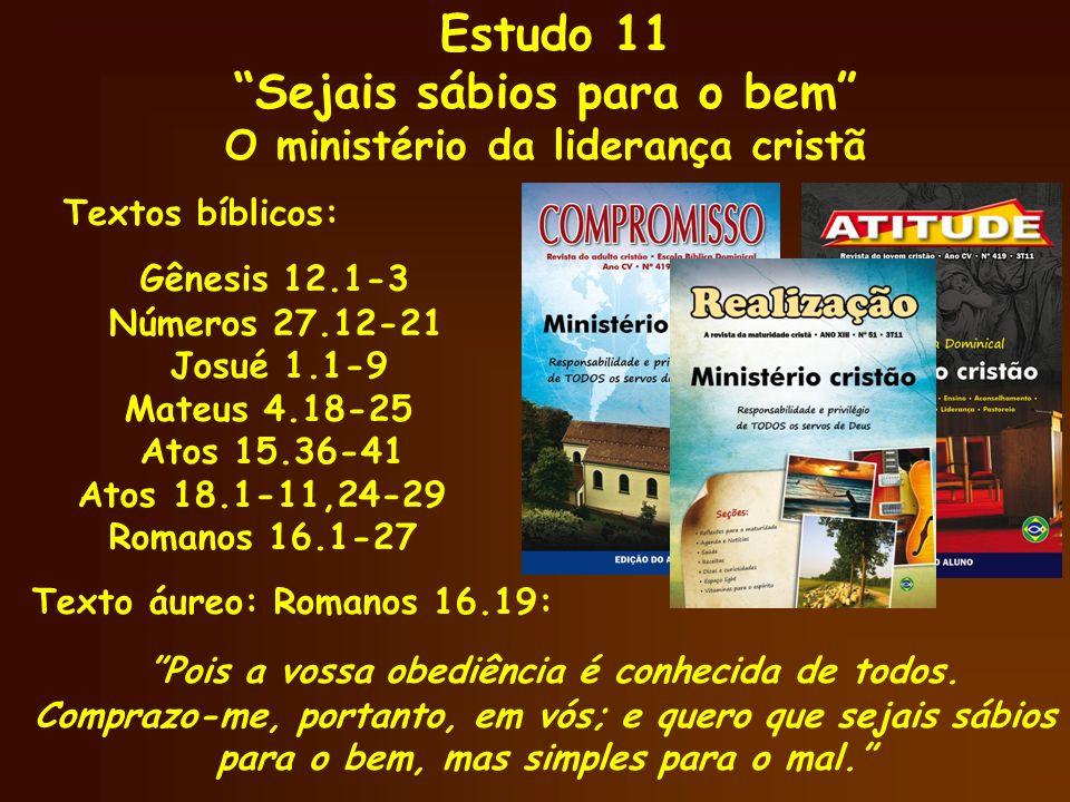 Ministério Cristão 5) Liderar é saber escolher Atos 15.36-41 Liderar é saber fazer escolhas e lidar com os conflitos; Ora, Barnabé queria que levassem também a João, chamado Marcos.
