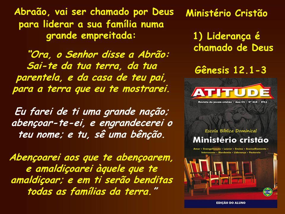 Ministério Cristão 2) O líder é uma escolha de Deus Números 27.12-21 Liderar é também, uma escolha divina.