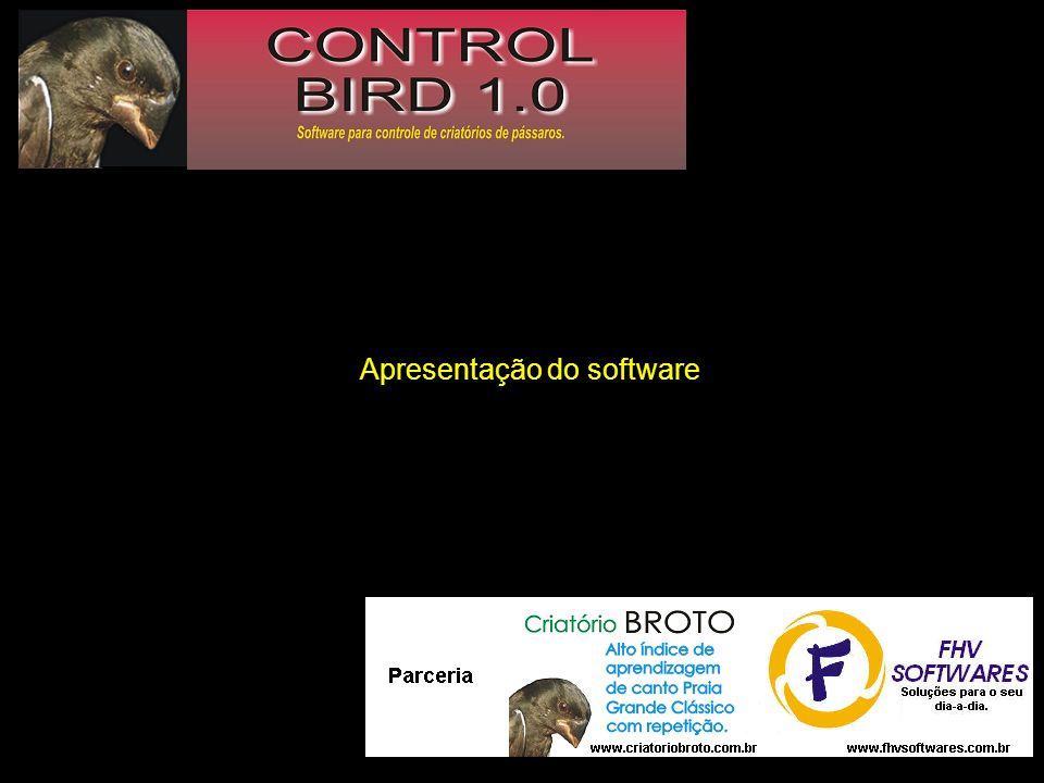 Utilize este botão se o criador que estiver recebendo o seu pássaro também possuir o software Control Bird.